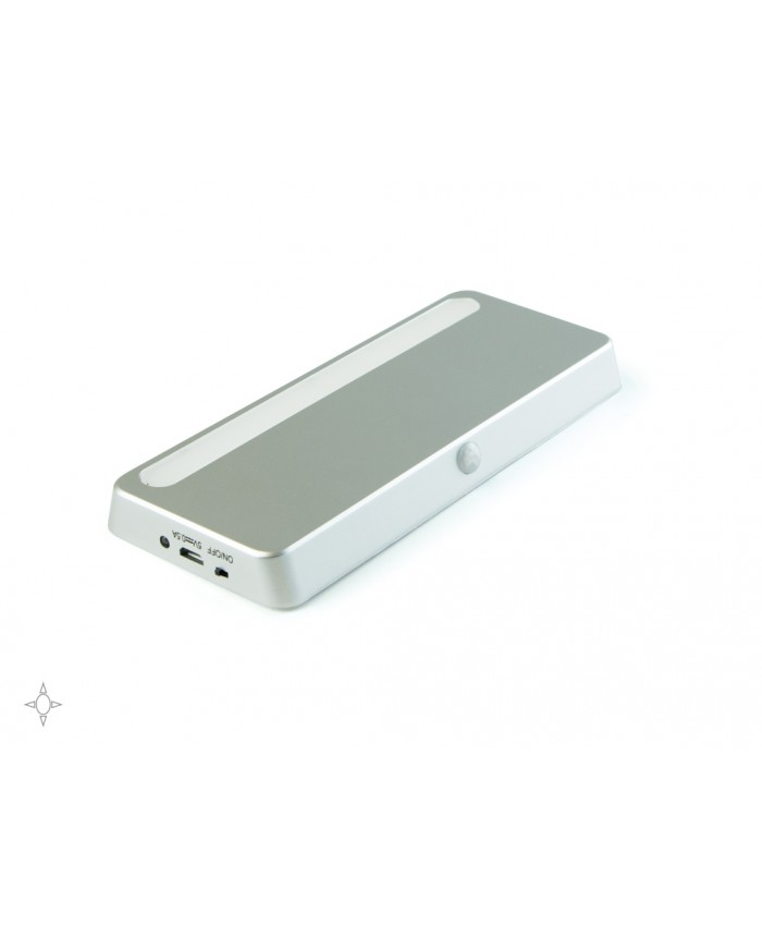 Oplaadbare LED batterijlamp met bewegingsmelder