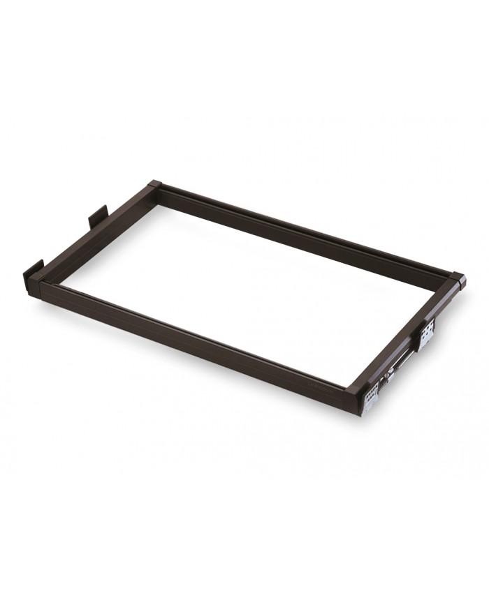 Uittrekbaar frame met soft close geleiders