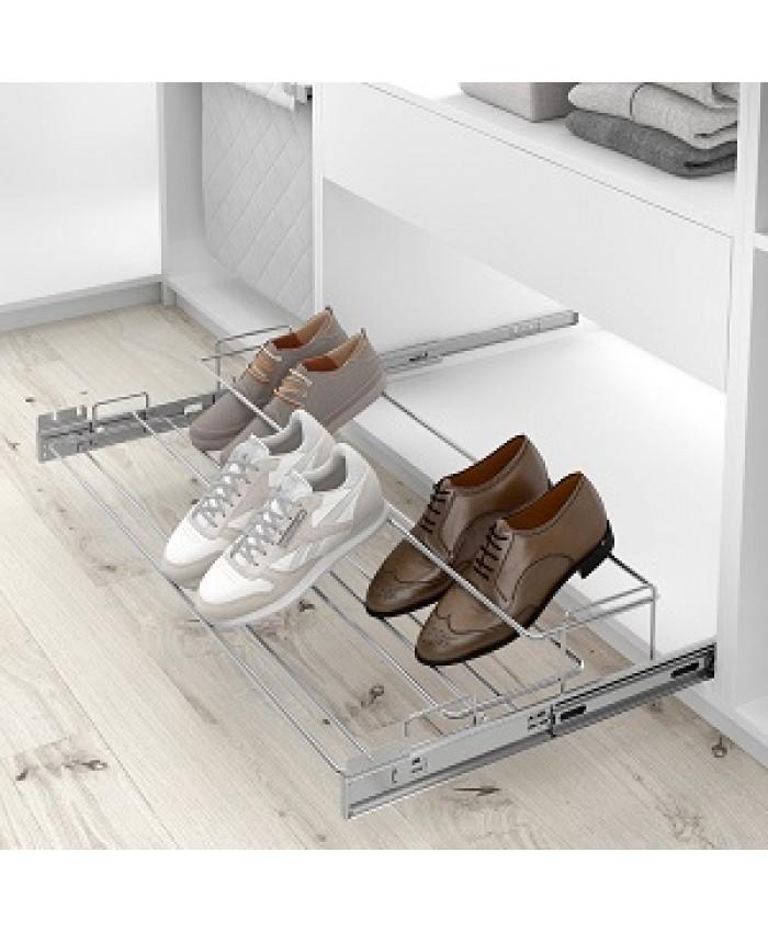 Uittrekbaar schoenenrek