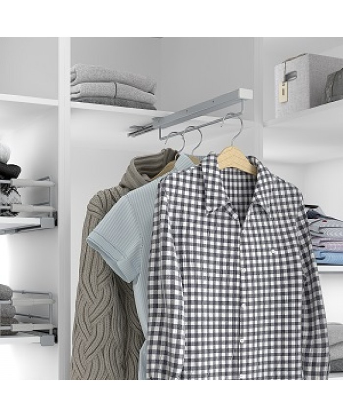 Garderobestang uittrekbaar (extra zwaar model)