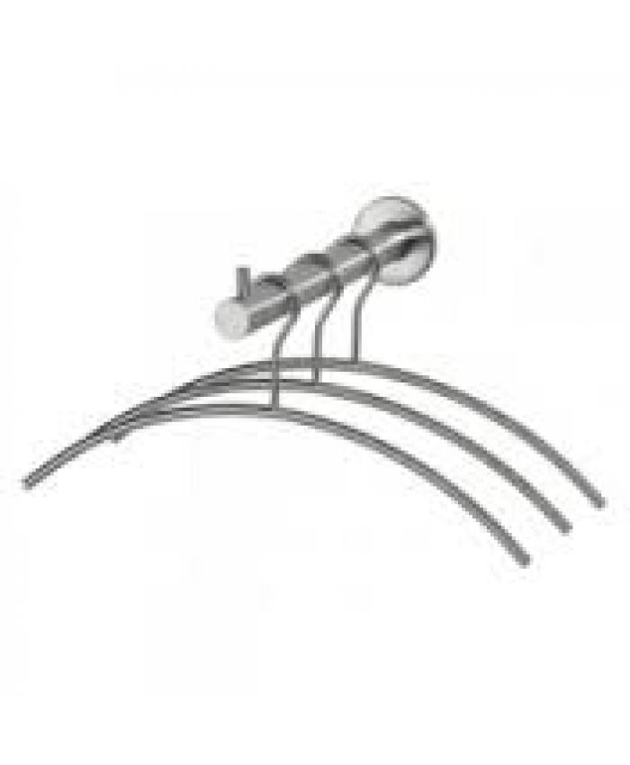Garderobestang RVS met 3 hangers