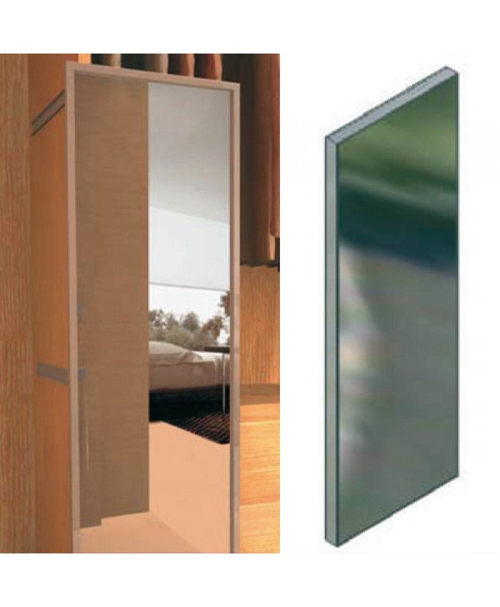 Uittrekbare zware kast- of garderobe spiegel