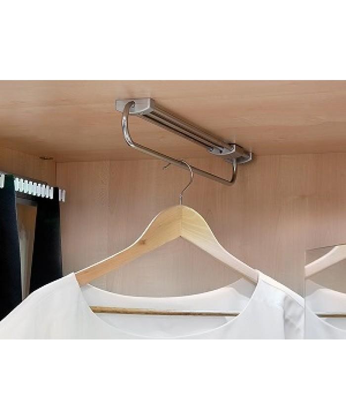 Garderobestang uittrekbaar chroom