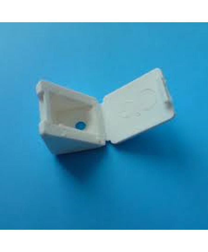 Hoekverbinder wit met vaste afdekkap