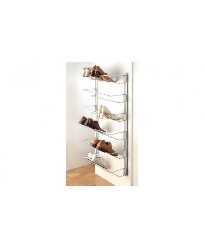 Wandrail voor schoenenrekken